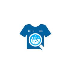 Search laundry logo icon design vector