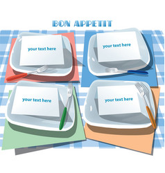 Set of meals template vector
