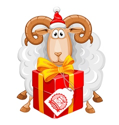 Sheep Christmas vector