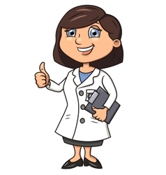 Smiling female doctor 2 vector image