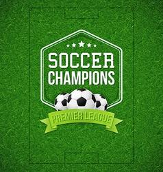 Soccer football poster Soccer football field vector image vector image