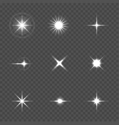 Star burst with sparkles vector