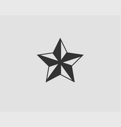 star icon silhouette isolated on white background vector image