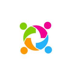 Team people logo icon design vector