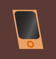 Technology gadget in flat design mp3 player vector