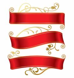 three red banners vector image