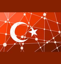 Turkey flag concept vector