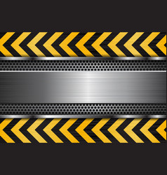 Under construction background metal texture with vector