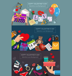 valentines day gifts vector image