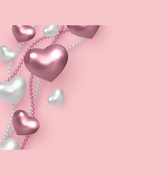 valentines day wedding decorative love concept vector image