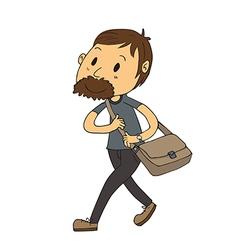 Walking man vector