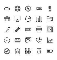 Web and mobile ui line icons 18 vector