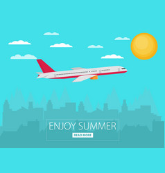 concept of airplaney modern flat design vector image vector image