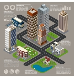 Isometric City Infographics vector image