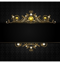 Jewellery black background vector image vector image