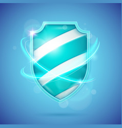 Realistic shield a symbol of protection and vector