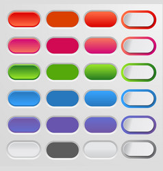 set of colored web buttons colorful collection vector image vector image