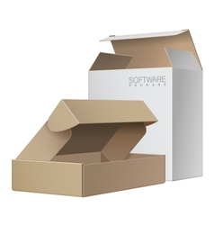 Two Package Box Opened For Software electronic vector image