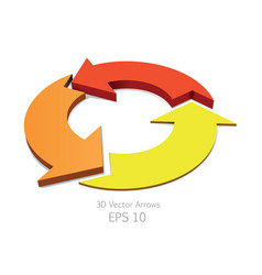 3d colorful arrows circle vector image