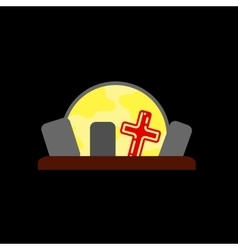 flat icon on background halloween cemetery Full vector image