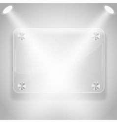 glass framework with spotlights vector image vector image