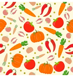 Seamless pattern with vegetables on a white vector image vector image
