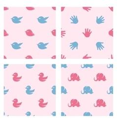 Baby shower related patterns birds duck vector