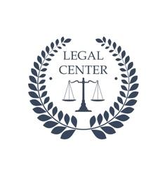 Legal center icon law justice scales symbol vector