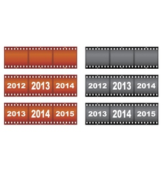 New Year filmstrips vector image vector image