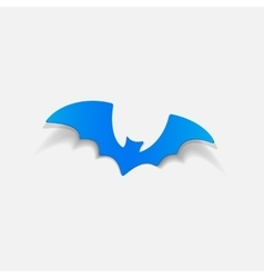 realistic design element bat vector image