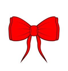Red bow isolated on white Design element vector image