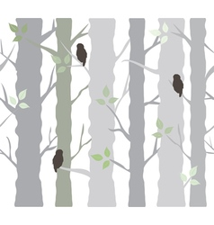 tree owls vector image