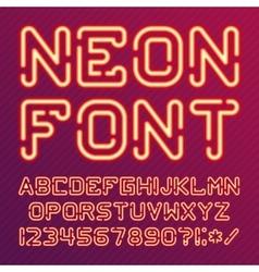 Alphabet neon red vector image