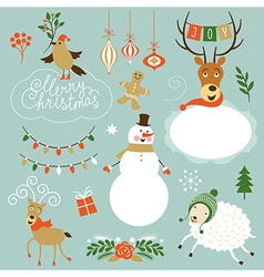 Christmas Clip Art vector image vector image
