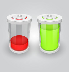 glass battery symbol vector image vector image