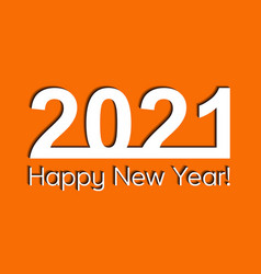 2021 creativity inspiration concept orange vector image