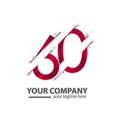 60 year anniversary your company template design vector
