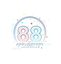 88 years anniversary celebration modern vector