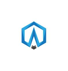 a logo hexagon icon vector image