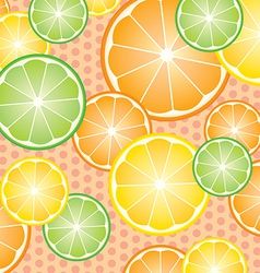 Abstract with pattern oranges slices vector image