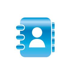 adress book symbol vector image