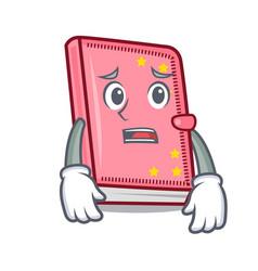 Afraid diary mascot cartoon style vector