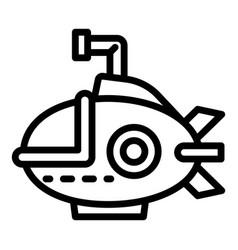 Bathyscaphe icon outline style vector