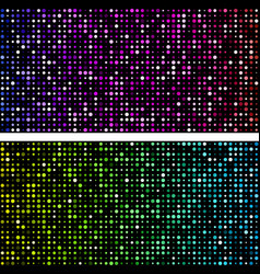 black backgrounds with colorful dotted pattern vector image