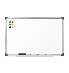 Blank magnetic dry erase whiteboard vector
