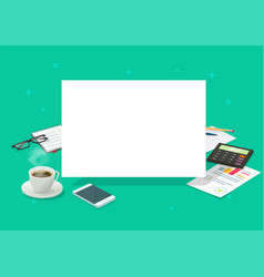 blank sheet on working table desk for copy space vector image