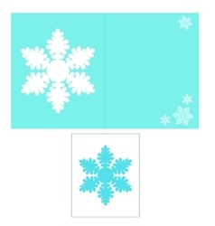 Card with snowflake vector