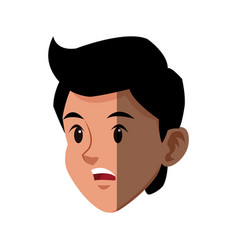 Character head boy sport style image vector