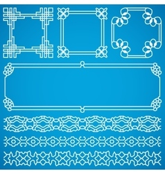 Chinese decorative frames and borders with vector image