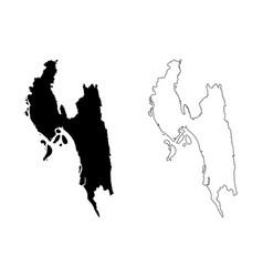 Chittagong division map vector